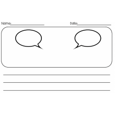 Speech and thinking bubbles for dialogue and character development