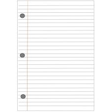 Notebook paper Papel de Cuaderno