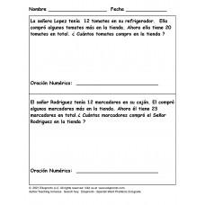 Edupronto - Spanish Word Problems 2nd grade