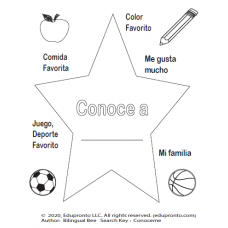 Conoceme - All about me spanish