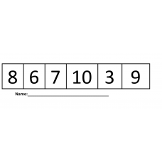Kinder Number Identification reading and writing numbers to 20 Exit Ticket
