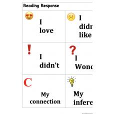 Reading Response Emojis Respuesta a la lectura Emojis