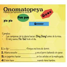 Onomatopeya Figurative language in English and Spanish