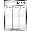 KWL chart SQA Chart Graphic organizer in English and Spanish.