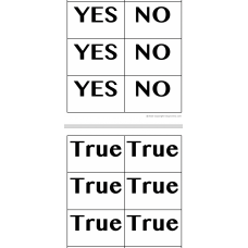 Yes or No  True or false bilingual cards